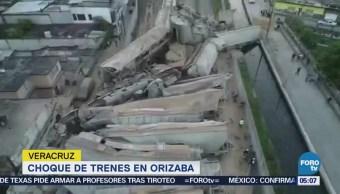 Delincuentes cortaron los frenos de un tren para robarlo en Orizaba, Veracruz