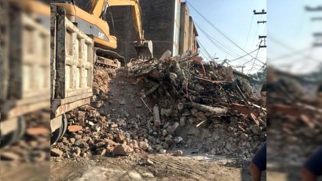 Termina demolición de edificio en Tlalpan afectado por sismo