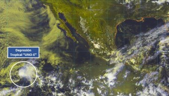 Depresión tropical Uno-E se forma anticipadamente en el Pacífico