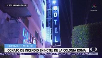 Desalojan a huéspedes de hotel en la colonia Roma por conato de incendio