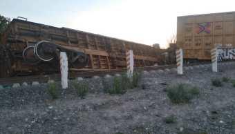 Descarrila tren de carga en Apizaco, Tlaxcala