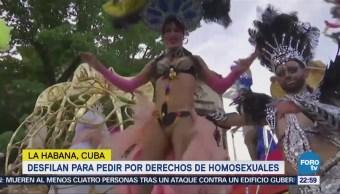 Desfilan Pedir Derechos Homosexuales Cuba