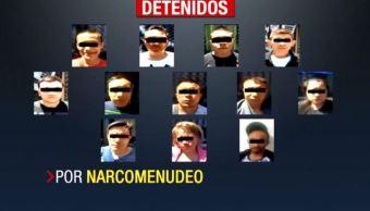 detienen narcomenudistas delegacion cuauhtemoc colonia morelos