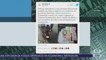 Detienen a hombre en silla de ruedas que asaltó tienda en CDMX