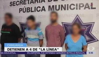 Detienen a integrantes de 'La Línea' en Chihuahua
