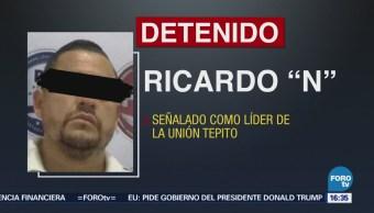 """Detienen Líder Unión Tepito Ricardo López Castillo, alias """"El Moco"""""""