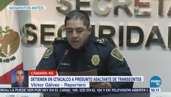 Detienen a presunto asaltante de transeúnte en Iztacalco