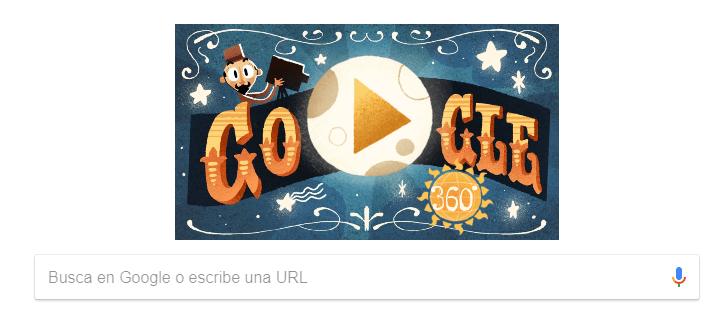 Google crea primer doodle interactivo de realidad virtual; rinde homenaje a Méliès