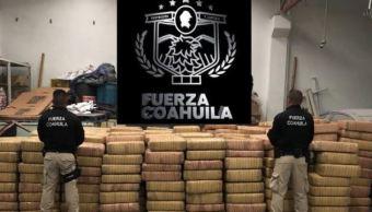 Aseguran más de tres mil Kg de marihuana en Coahuila