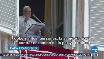 El papa Francisco pide por la paz de Venezuela