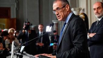El recién nombrado jefe de gobierno de Italia, Carlo Cottarelli
