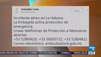 Embajada de México en Cuba activa emergencia