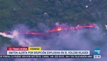 Emiten alerta por erupción explosiva en el volcán Kilauea