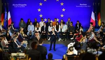 Emmanuel Macron recibe Premio Carlomagno y defiende el multilaterismo