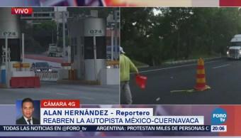 Empieza Fluir Circulación México Cuernavaca Accidente