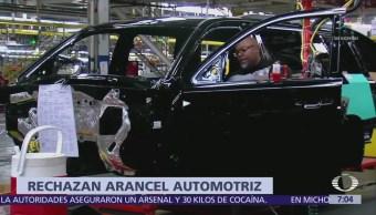 Empresarios de EU condenan aranceles industria automotriz