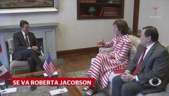 EPN Reconoce Labor Roberta Jacobson Embajadora