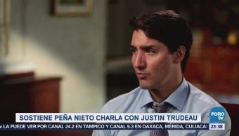 EPN Trudeau Conversan TLCAN Negociaciones TLC