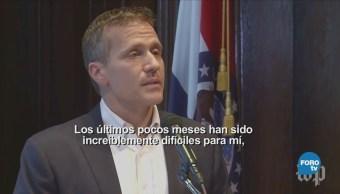 Escándalo Sexual Renuncia Gobernador Missouri EU