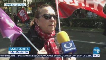España Critica Corrupción Gobierno Día Del Trabajo