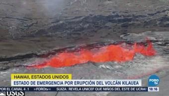 Estado Emergencia Hawai Erupción Volcán Kilauea