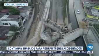 los daños por descarrilamientos en Veracr