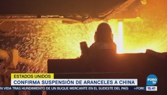 EU confirma suspensión de aranceles a China