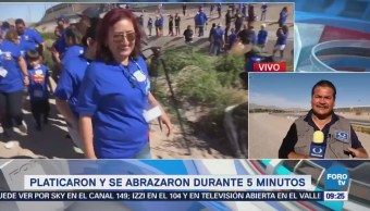 Familias Eu México Abrazaron Durante 5 Minutos Texas
