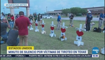 Guardan minuto de silencio por tiroteo en escuela de Texas