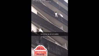 Joven, Trepa Edificio, Rescatar, Niño, Paris, Mamadu Gasama