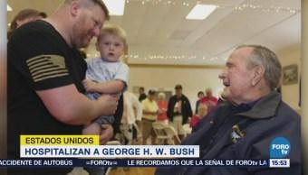 Hospitalizan George H. W. Bush Estados Unidos
