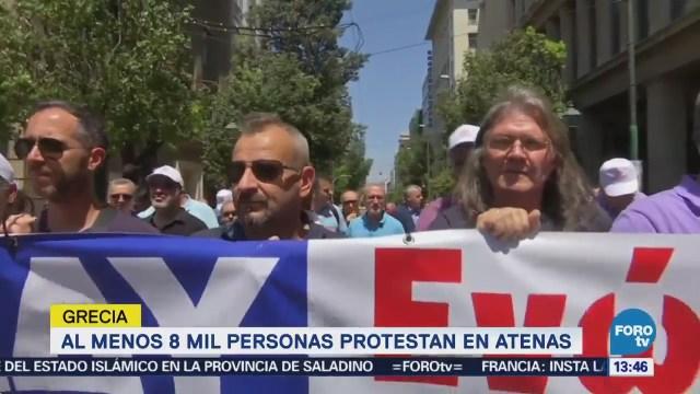 Huelgas en Grecia contra medidas de