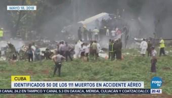 Identifica a 50 de los 111 muertos en accidente