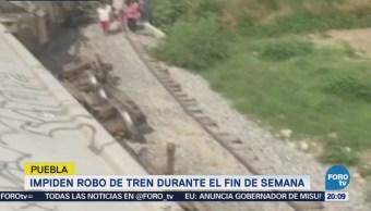 Impiden robo de tren en Puebla
