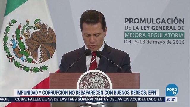 Impunidad Corrupción No Desaparecen Deseos EPN