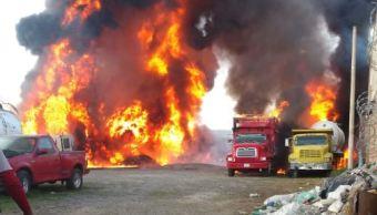 Se registra incendio en predio donde se almacenaba hidrocarburo en Jalisco