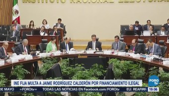 Ine Aprueba Sanciones Jaime Rodríguez Calderón