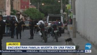 Investigan Asesinato Familia Finca Jalisco Tlaquepaque