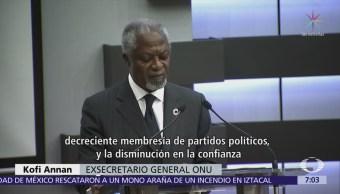 Kofi Annan visita México; será observador electoral