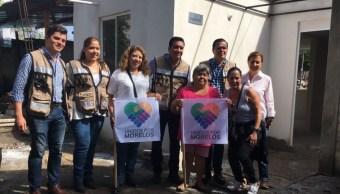 Avanza reconstrucción tras sismo en comunidad La Nopalera, en Morelos