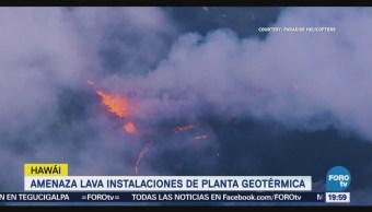 Lava Volcán Kilauea Amenaza Planta Geotérmica Hawai