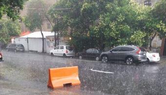 lluvia y granizo provocan encharcamientos vialidades ciudad mexico