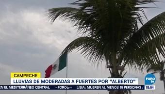 Lluvias Moderadas Fuertes Tormenta Alberto Campeche