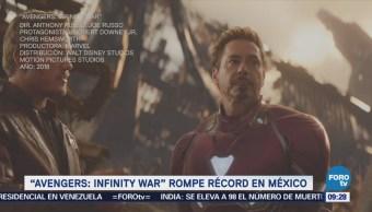 Avengers infinity war rompe récord en México