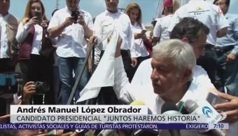 López Obrador saca pañuelo blanco sobre empresarios, se dice abierto al diálogo