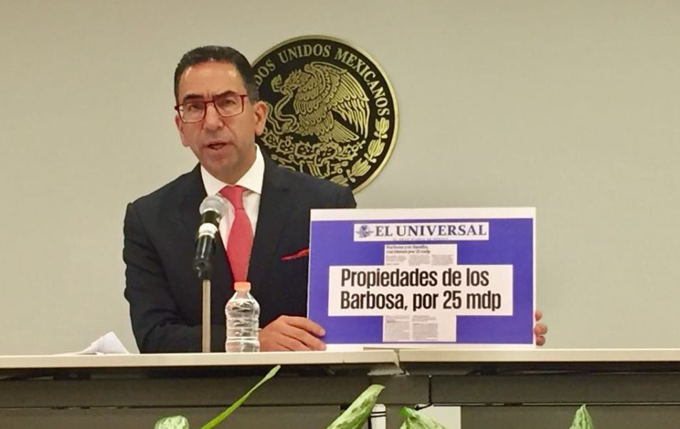 Senadores Lozano y Fernández se enfrentan por acusaciones contra candidato