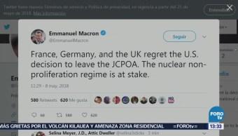 Macron: Francia, Alemania Reino Unido Lamentan Retirada Eu Acuerdo Nuclear