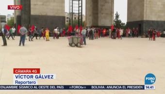 Manifestantes Concentran Monumento Revolución, CDMX