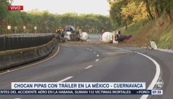 Mantienen cerrada la autopista México Cuernavaca