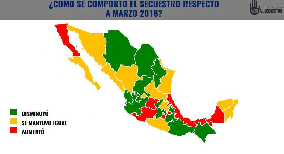 Disminuyen secuestros en México durante abril, según Alto al Secuestro